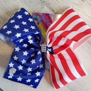 JoJo Siwa Red White & Blue Stars & Stripes Bow